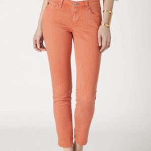 Anthropologie -polka dot skinny jeans
